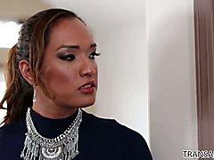 Exotic goddess Jessica Fox dominates mild mannered Chad Diamond.