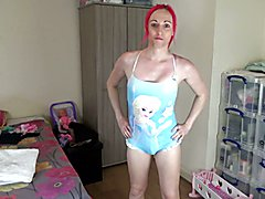 Lucie tries on some cute swimsuits showing off her gorgeous body. Keep watching to the end f...