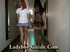 Double Super Sexy Ladyboys Ready To Fuck