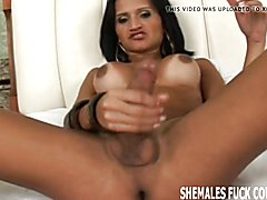 I want to watch you get fucked by that tranny babe
