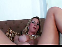 hot transsexual solo in bed