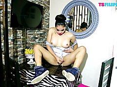 TS Filipina  Dirty Little Angel  - clip # 02