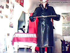 TV Domina Madame Crudelitas in Leather Coat 1
