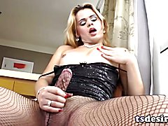 Latin Tgirl Josiane Plays With Her Big Cock  - clip # 02