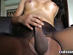 Asian TS Sweetheart Ming Plays With A Toy