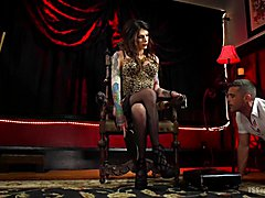 Lance Hart comes crawling into Chelsea Marie's lair, hungry for what the other domme ladies ...