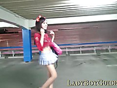 Thai Ladyboy Wanks For Stardom