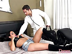 Doctor gets turned on by sexy shemale body Shemale sucks the doctors dick Then he fucks her ...