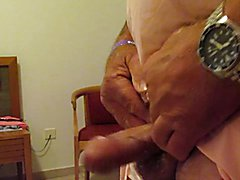 Wanking in the hotel room