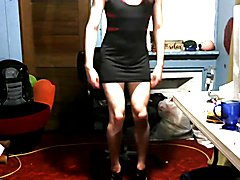 Femboy slut tight dresses whore heels p2