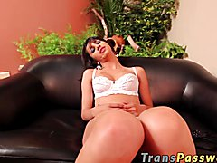 Columbian tranny got gaped and hard fucked in her butt.