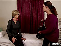 Magdalene St. Michaels loves TS Nina Lawless' dick