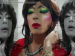 hot sexy girl  makeuo, shrmake make up, fetish make up, heavy makeup