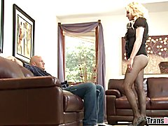 Big breasted tranny Tyra Scott loves huge cock