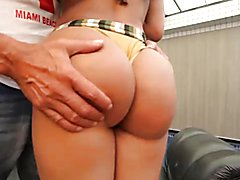 Lovely TS Bruna Butterfly shows what she's got