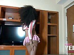 Hot shemale babe Keira Verga here to share my super sexy short skirt.