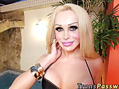 Check out this crazy trans porn scene video featuring sexy Leticia Venturini. She's craving ...