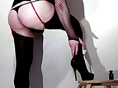 Lola french crossdresser, toys in my ass and cum.
