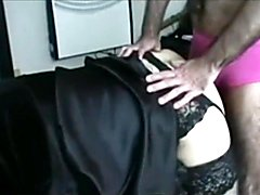 Mistress training her sissy by letting her be fucked and face fucked