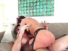 Sexy Jada Stevens fucked in both holes hard