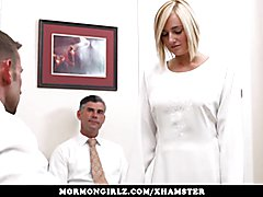 Sister Lily gets two powerful rods inside of her down in the depths of the church basement a...