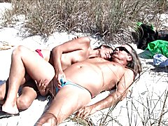 Jamie loves to suck Michelle's T-Girl Prick and make it hard for you at the Beach. Jamie and...