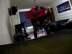new maid outfit and boots in the mail today....  sorry about the poor quality video...