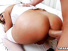 Hot Tgirl Nicole Bahls Enjoys Getting Assbanged
