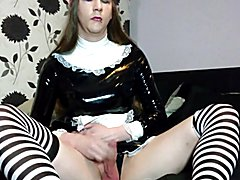 Sissy maid just having some fun. Went for a self facial but sadly didn't get into posit...
