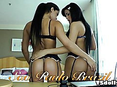 Bruna Butterfly and Beatricy Velmont are gorgeous, young, ultra-feminine Sao Paulo she-males...