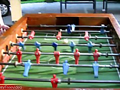 These four shedolls know just how to make a regular game of foosball a whole lot more fun an...