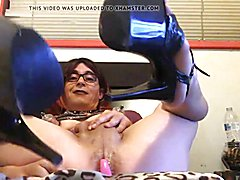 Here's my sissy whore Riann showing off her great legs, sweet asspussi,, perfect heels (ever...