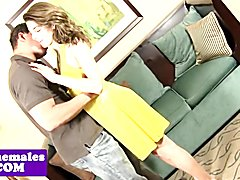 Amateur trap anally pounded doggystyle by guy and loves it