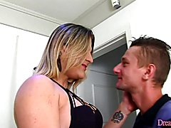 Sexy tranny and boyfriend plays with nasty cards She gets her dick sucked Then she fuck the ...