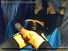 Alice teasing again, as she cams to a horny young man. Showing her long stocking clad legs, ...