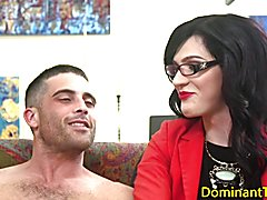 Spex ts dom fucks guys ass balls deep before jerking cumshot