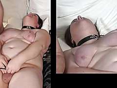 Kitty taking more electro shocks than she could handle - she ended up using her safe words