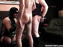 TV slut gets abused by 3 guys and 1 masked girl. Original content, exclusively filmed for ou...