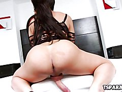 Ariane De Briho is a smoking hot Latin shemale who enjoys playing with her hard cock until s...