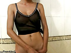 Joy has an alluring face and very sexy dirty blonde hair that compliments her perfect chocol...