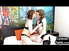 Cute teenage tgirls Lily and Demi are two lesbian friends with serious benefits! I could wat...