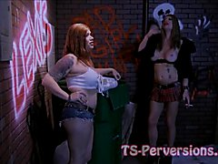 Kimber Haven and Raven Roxx team up as hardened street