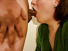 Trans BBW Meaghan Jaymes swallowing another trans