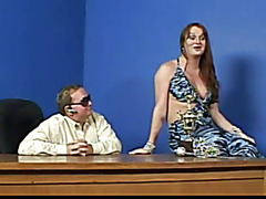 Shemale Fucks Man On Porn Set