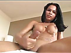 Tgirl Luana Solo, Nice Ass & Cums