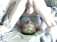 nasty tranny SOLO cumshot to OWN face!
