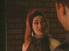 Very hot scene with 90s CD Kourtney van Wales making a guy her bitch in an alley.