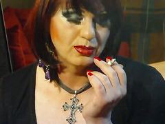 Petra is not one of my sissy sluts she is a very special guest starr smoking upclose so beau...