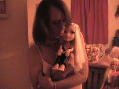 Thomasina Loving Her Dolls