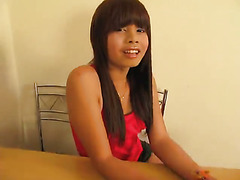Cute Asian Teen Ladyboy masturbating.